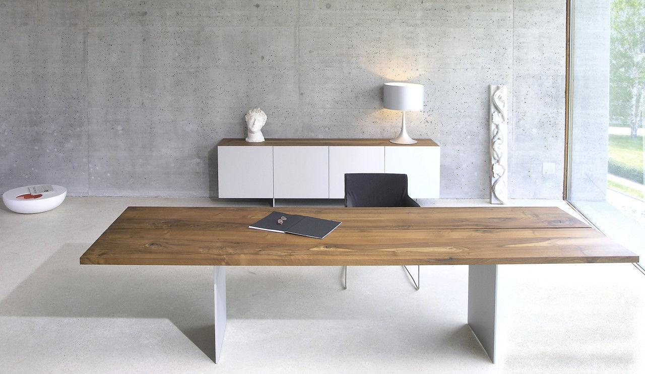 Table et bureau bois et acier bois et béton