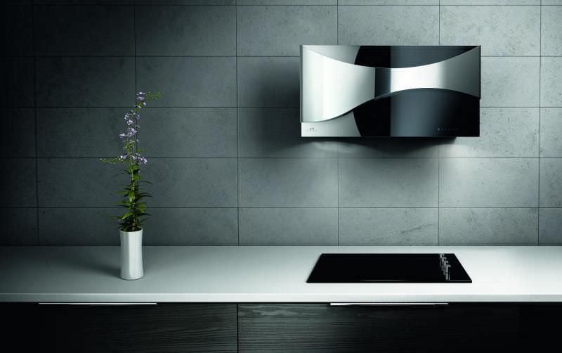 hotte de cuisine murale / design original / avec éclairage intégré