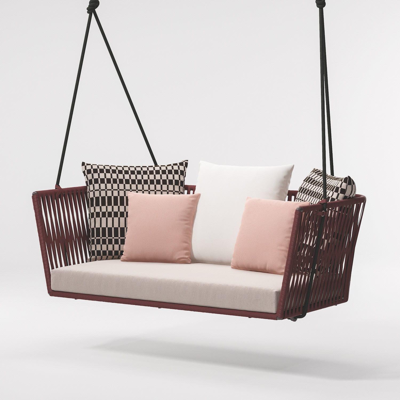 Balancelle de jardin en corde / en aluminium / pour hôtel / pour ...