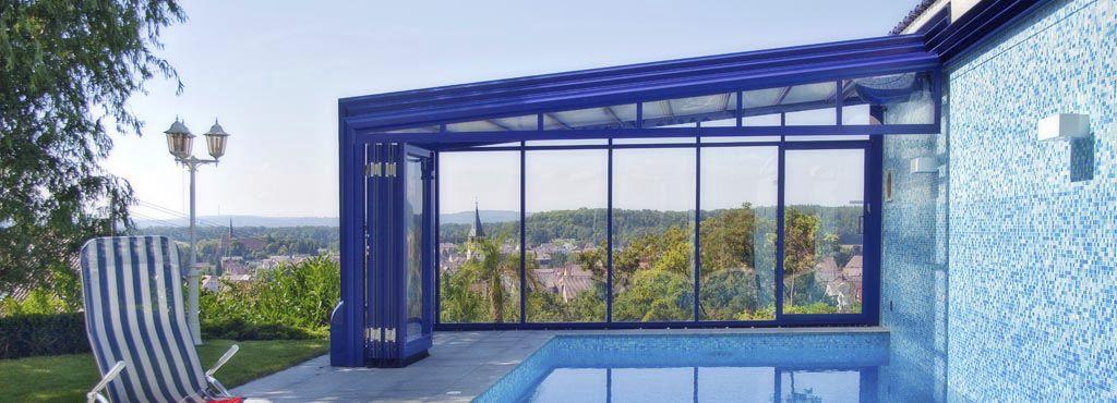 abri piscine adosse maison