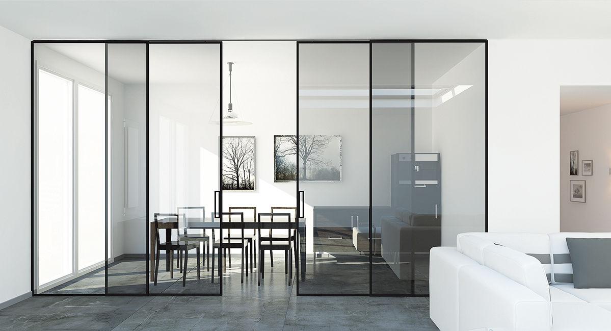 Systme Coulissant Pour Porte En Verre  Inside Duo  Openspace