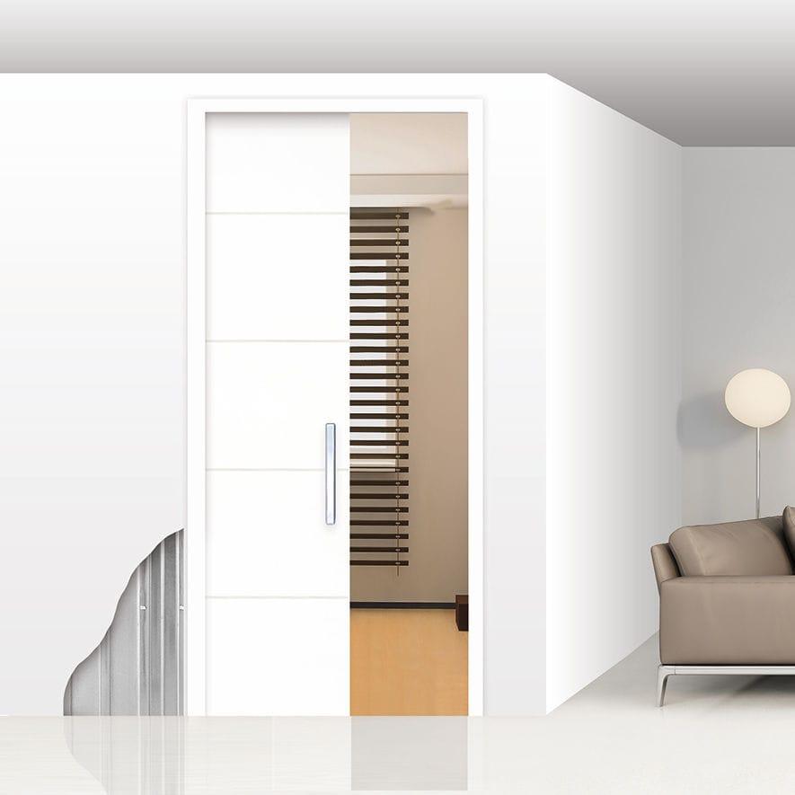 système à galandage pour porte coulissante - unico - openspace ... - Installer Une Porte A Galandage