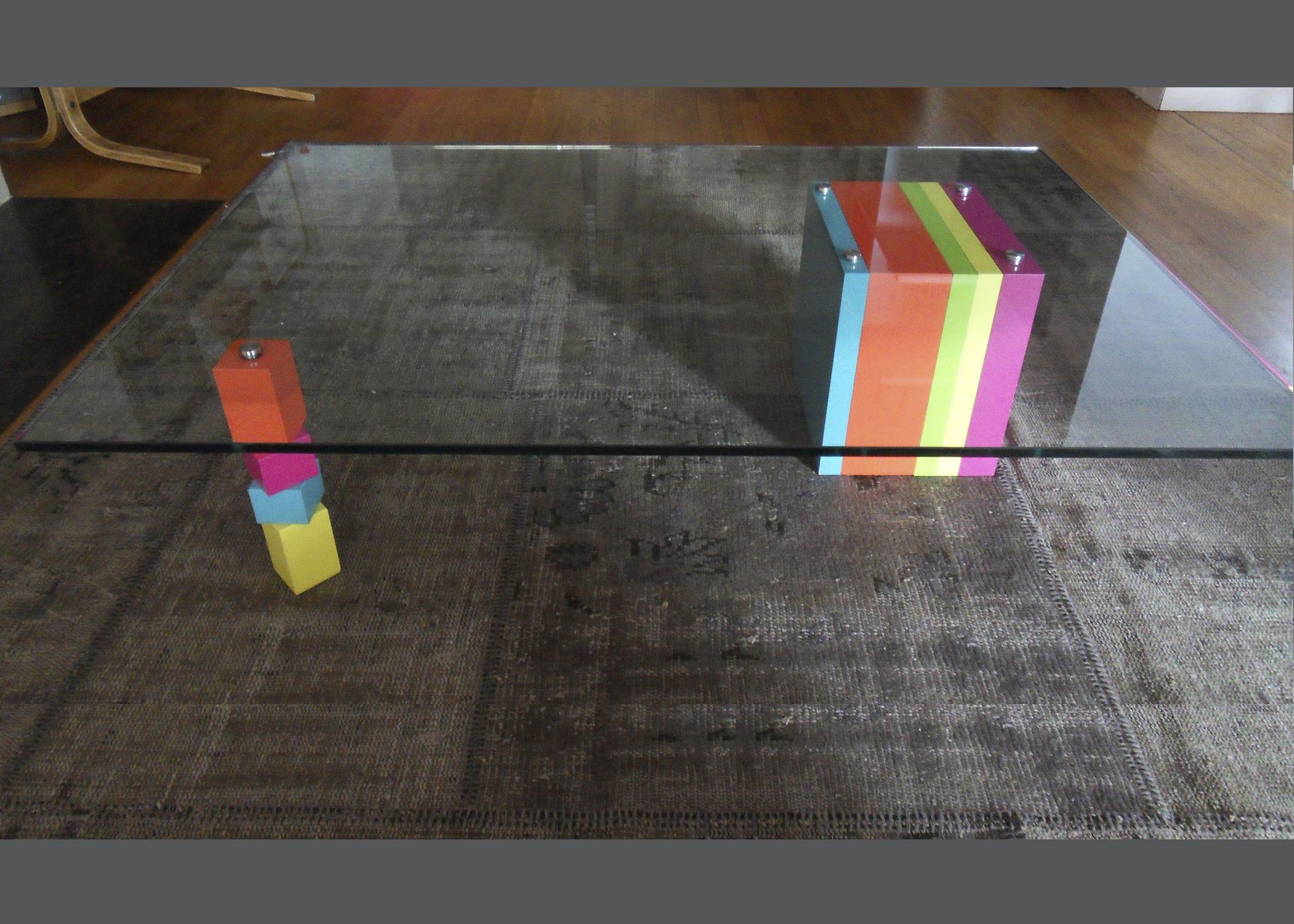 Table basse verre couleur tables basses carrées en bois   Danse moreau f12544b54cf3