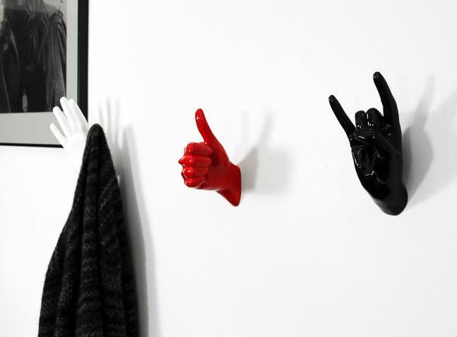 porte-manteau mural / contemporain / en métal - handjob hooks