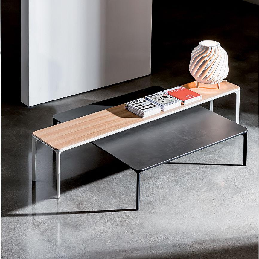 Table Basse Contemporaine / En Bois Laqué / En Bouleau / En Verre Laqué    SLIM By Matthias Demacker