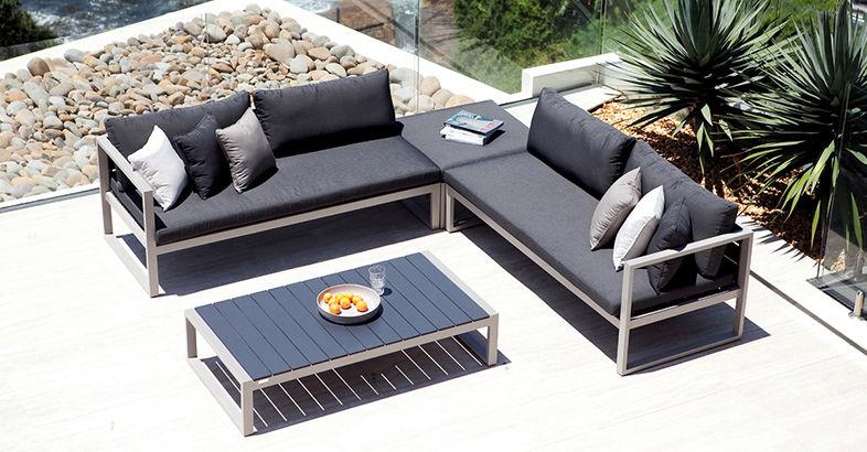 Canapé modulable / contemporain / de jardin / en Batyline® - PIANO ...