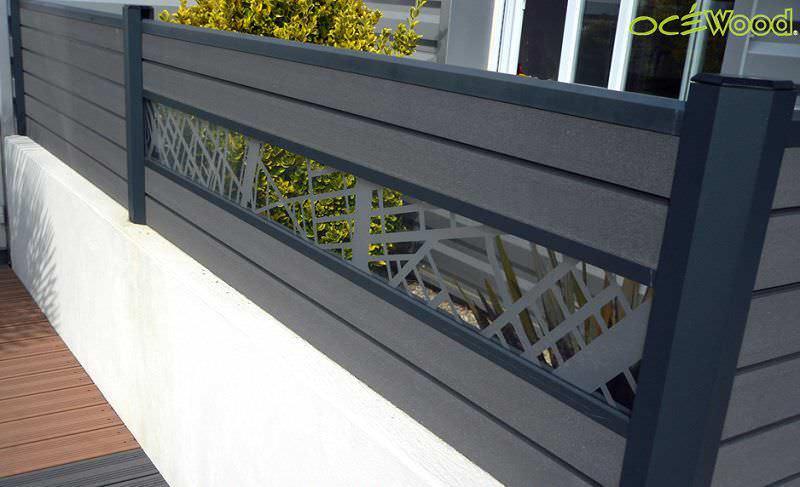 Clôture de jardin / à barreaux / en bois composite - BORÉALE DESIGN ...