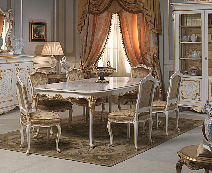 Table De Style Louis XVI En Bois Peint Ovale