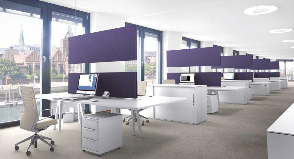 panneau acoustique pour agencement intrieur en textile design pour bureau