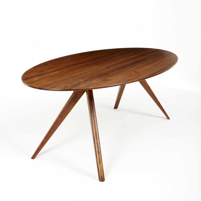 Table à manger contemporaine / en noyer / en chêne blanc / ronde ...