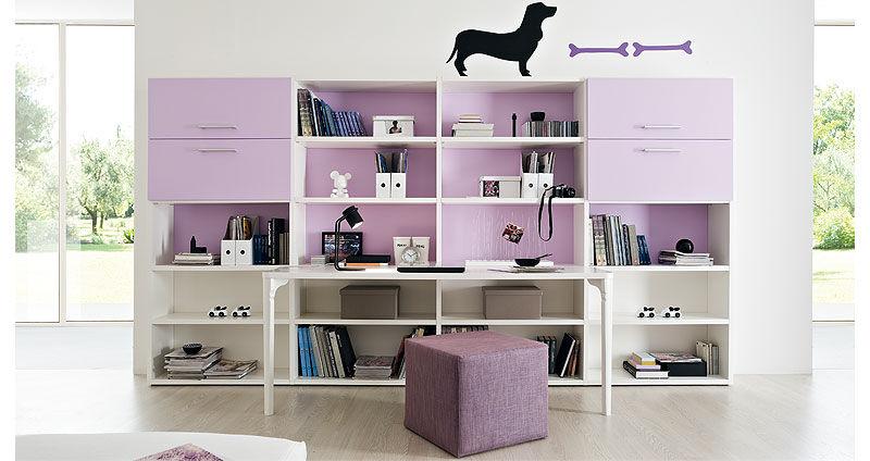 Bureau en bois contemporain avec étagère pour enfant