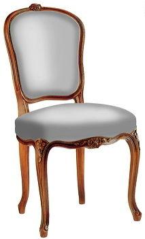 Chaise de style Louis XV / en bois - MOULURÉE - DELAROUX