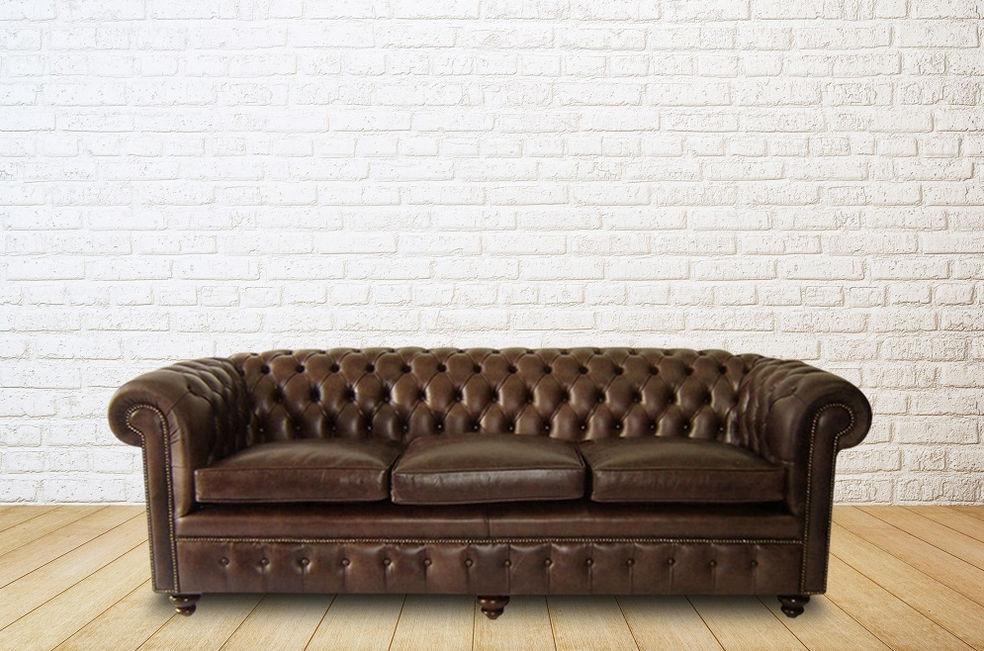 Canapé lit / chesterfield / en cuir / 2 places - CLASSIC - Kingsgate ...