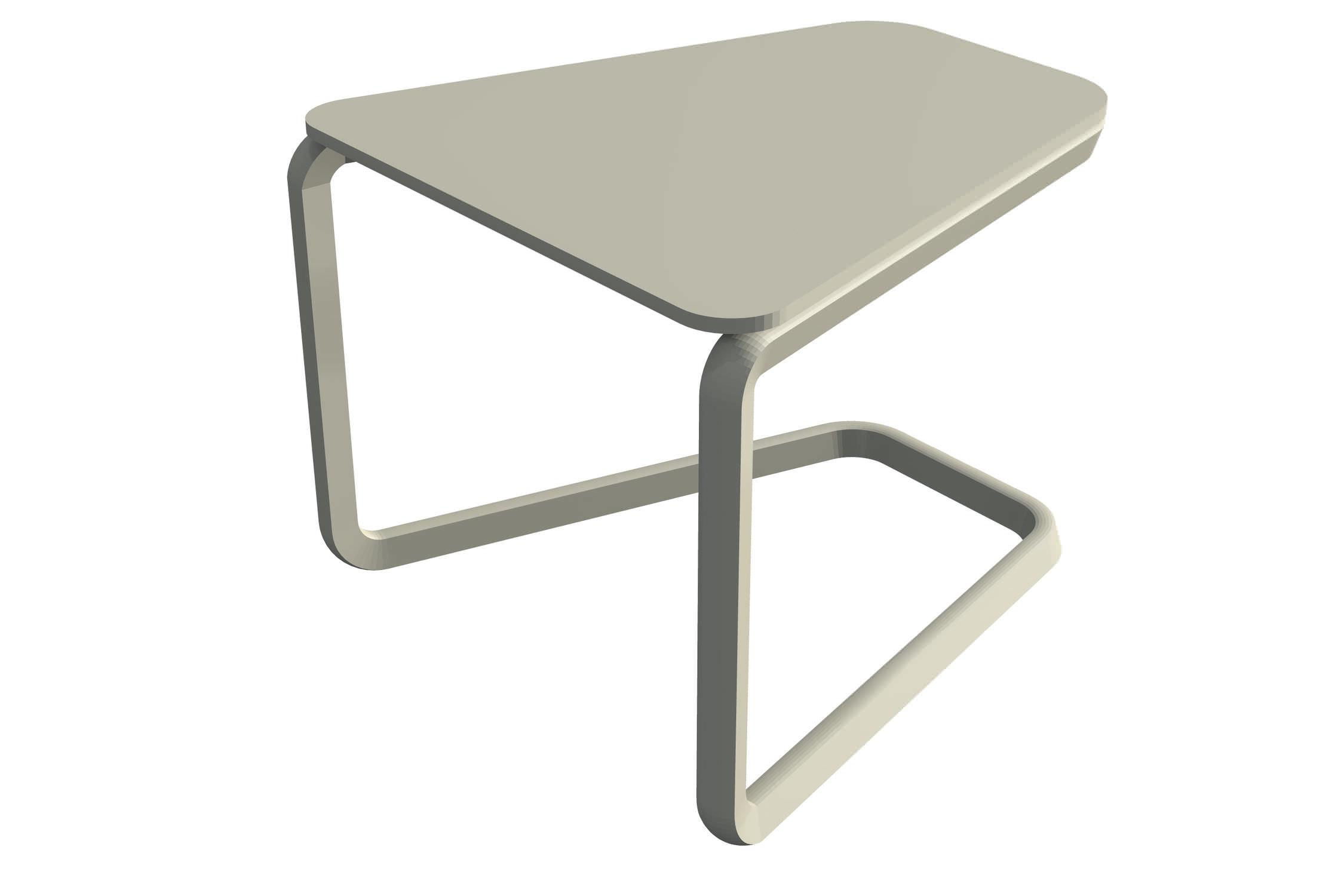 Table basse contemporaine en métal trapézo¯dale de jardin