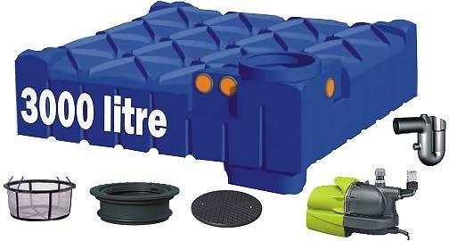 cuve enterrée / de récupération d'eau de pluie - rwh-3099fl-guk1