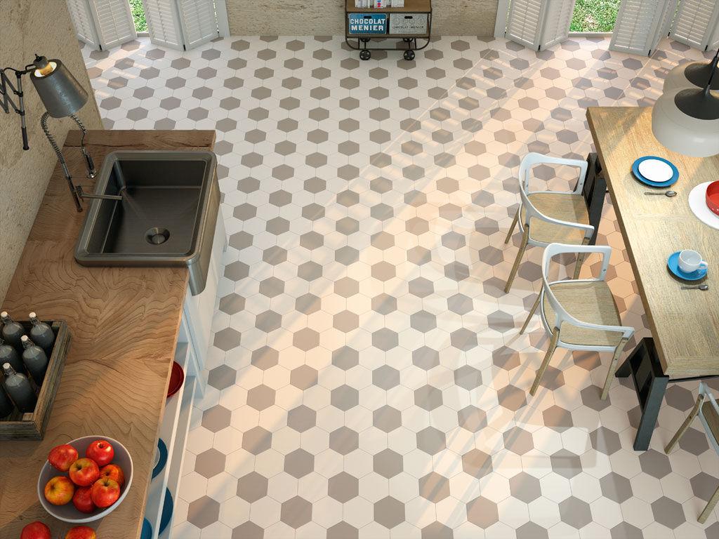 Carrelage Sol Salle De Bain Hexagonal ~ tomette de salle de bain de cuisine de sol hexagon ape
