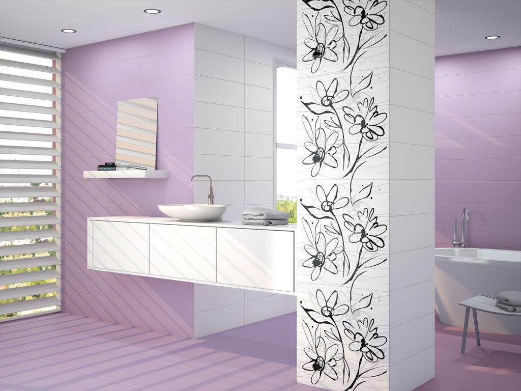 Carrelage Salle De Bain Fleuri ~ carrelage mauve salle bain stunning finest carrelage mural salle de