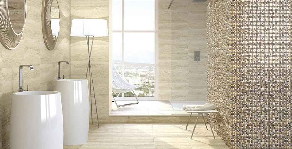 carrelage de salle de bain de sol en cramique brillant
