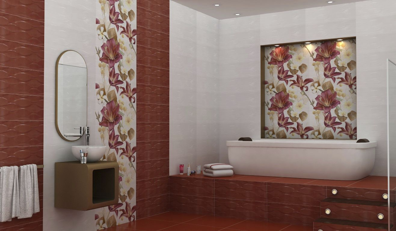 Carrelage de salle de bain / de sol / mural / en céramique - TULIP ...