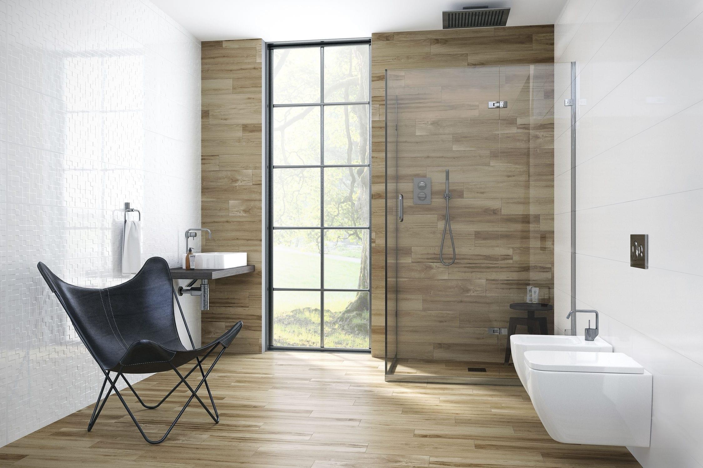 Carrelage de salle de bain / mural / en céramique / à relief ...