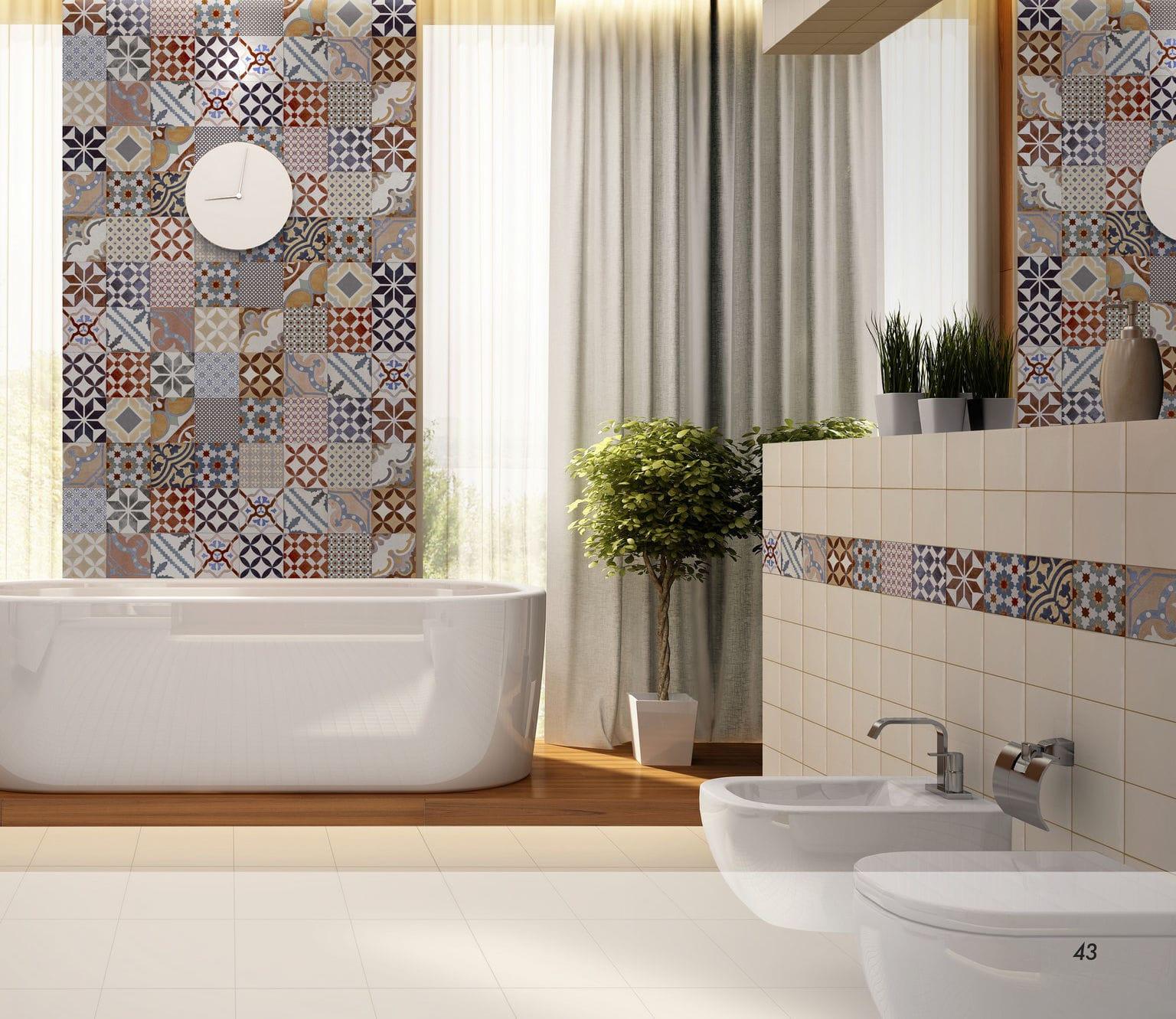 Salle De Bain Victorienne ~ carrelage d int rieur de salle de bain mural en gr s c rame