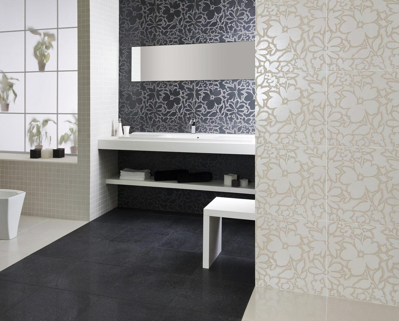 Carrelage de salle de bain / mural / en grès cérame / à relief ...