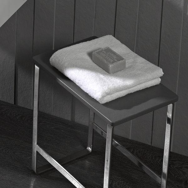 Tabouret Contemporain / En Aluminium / De Salle De Bain / Blanc