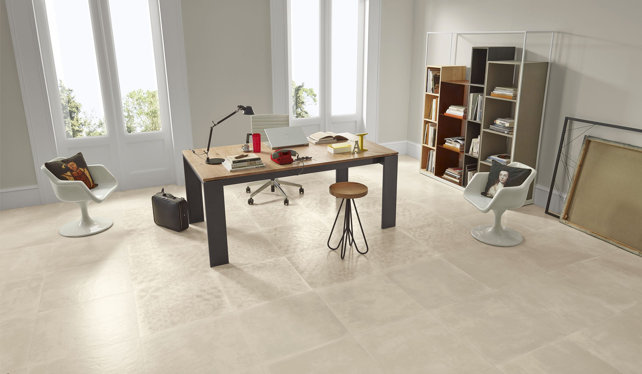 carrelage de sol mural en grs crame satin ground love ceramic tiles - Ceramic Carrelage