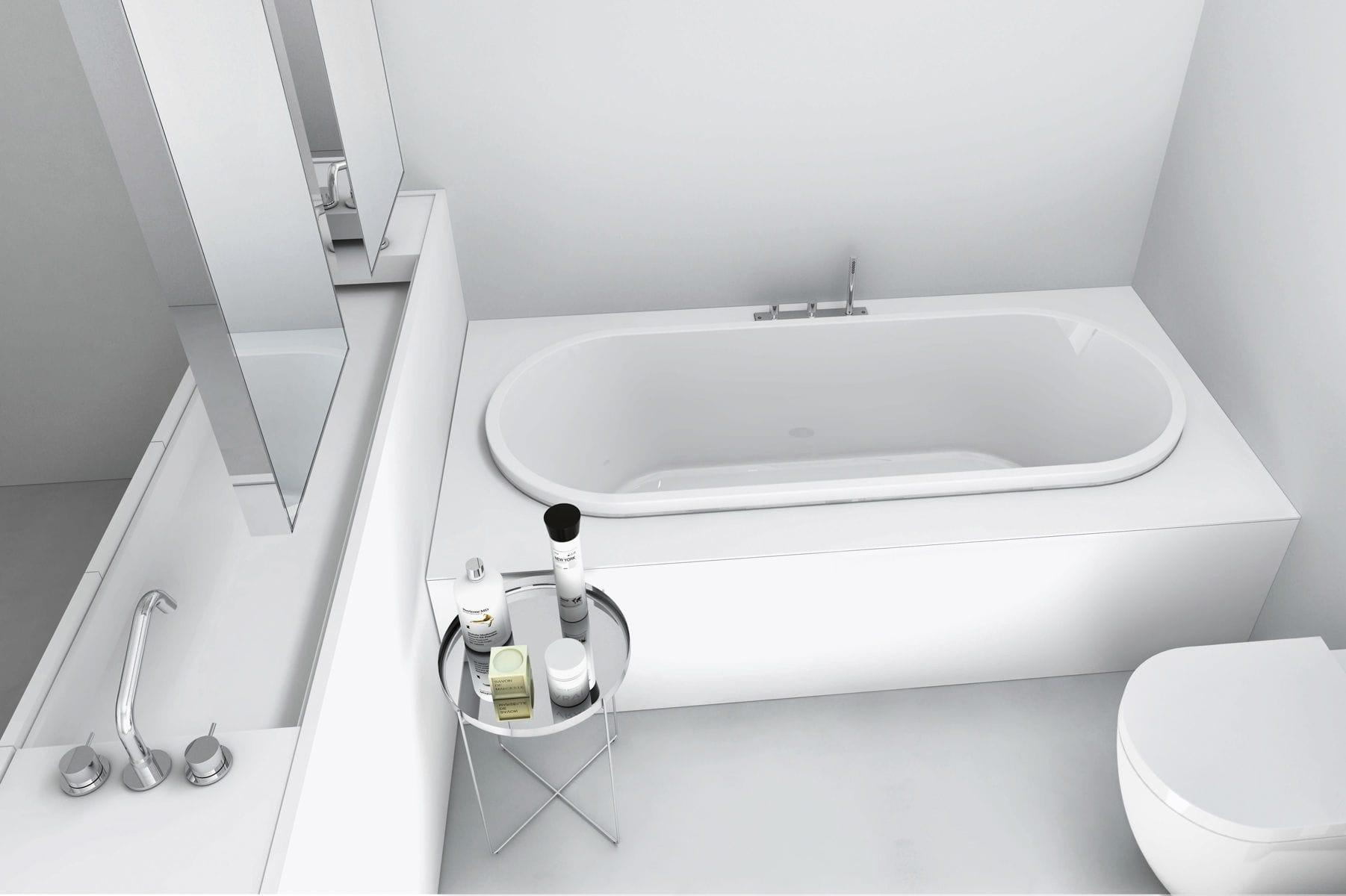 baignoire ovale / en corian® / en résine / en marbre - street - makro