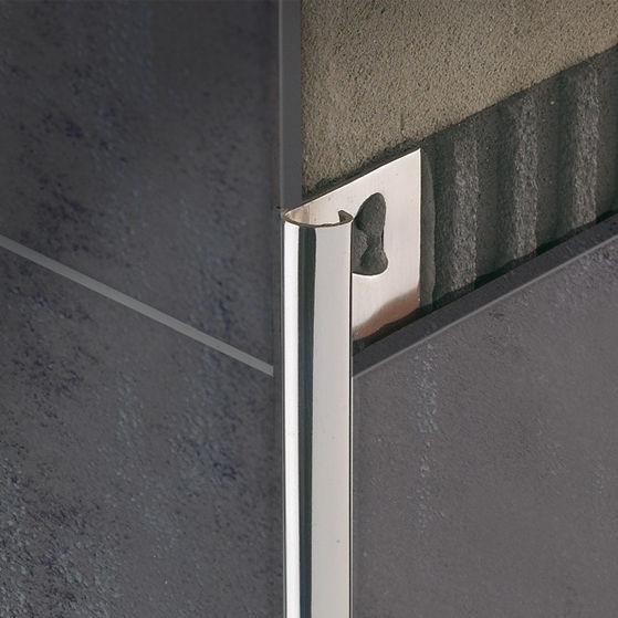 profilé de finition en acier inox / pour carrelage / quart-de-rond