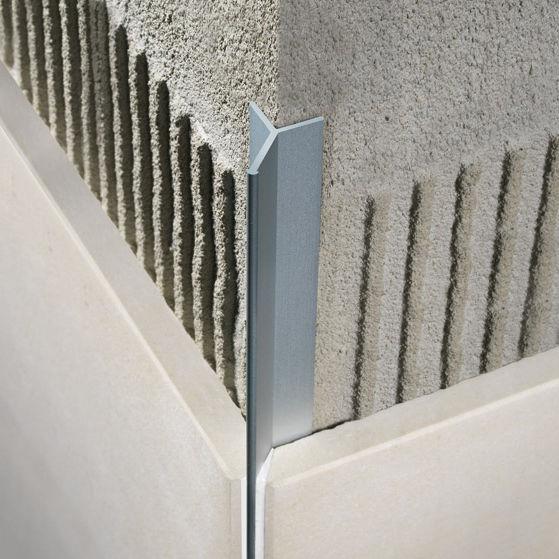 profil de finition en aluminium pour carrelage pour angle ext rieur filojolly rjf. Black Bedroom Furniture Sets. Home Design Ideas