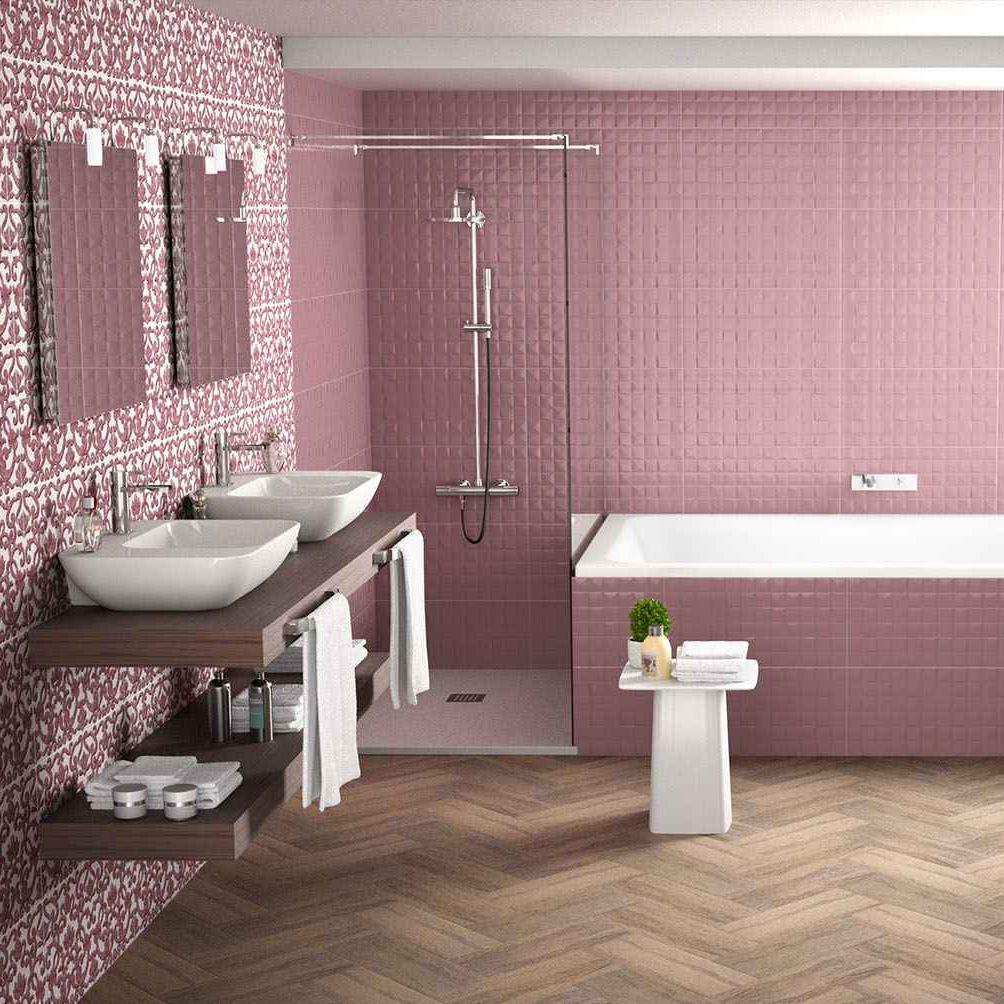 Salle De Bain Motif Fleur ~ carrelage de salle de bain de sol en gr s c rame motif
