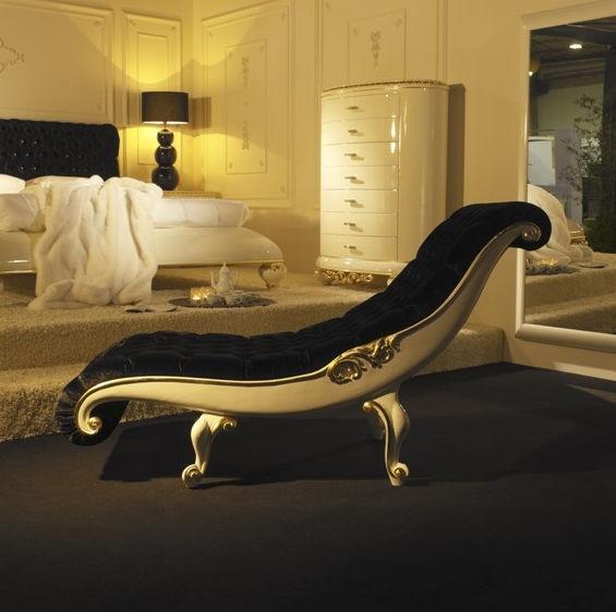 Chaise longue design nouveau baroque / en tissu / en cuir - VENEZIA on chaise recliner chair, chaise sofa sleeper, chaise furniture,
