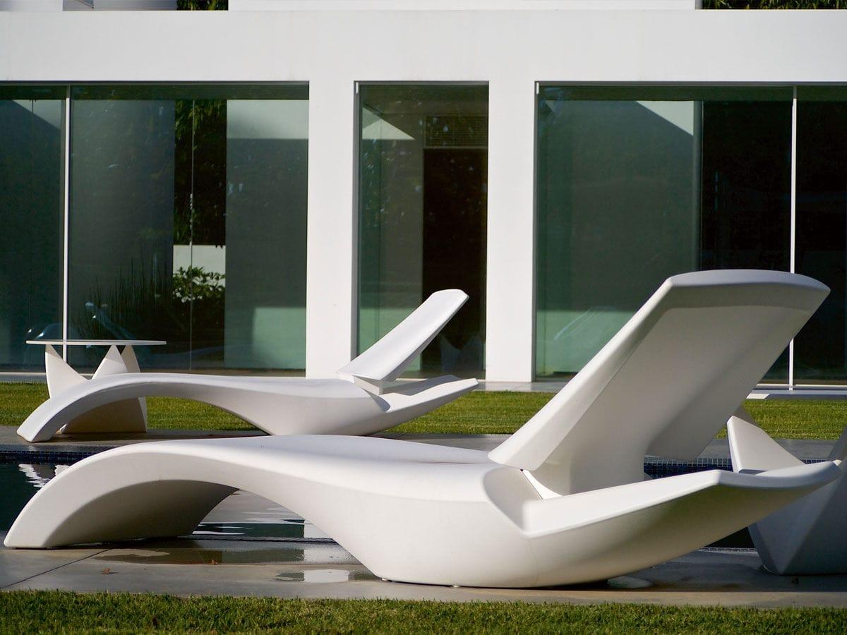 bain de soleil design original / en polyéthylène / de jardin - zoe