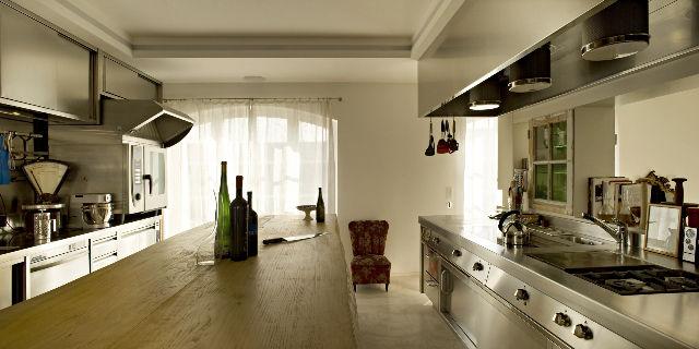 cuisine contemporaine / en inox - royal chef - demanincor - Cuisine Inox Particulier