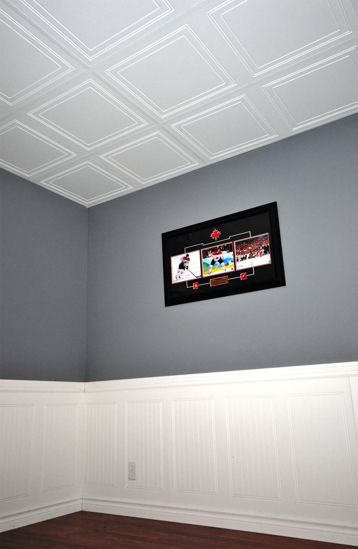 faux-plafond en bois / en dalles / décoratif - polo - mur design - Faux Plafond Suspendu Decoratif