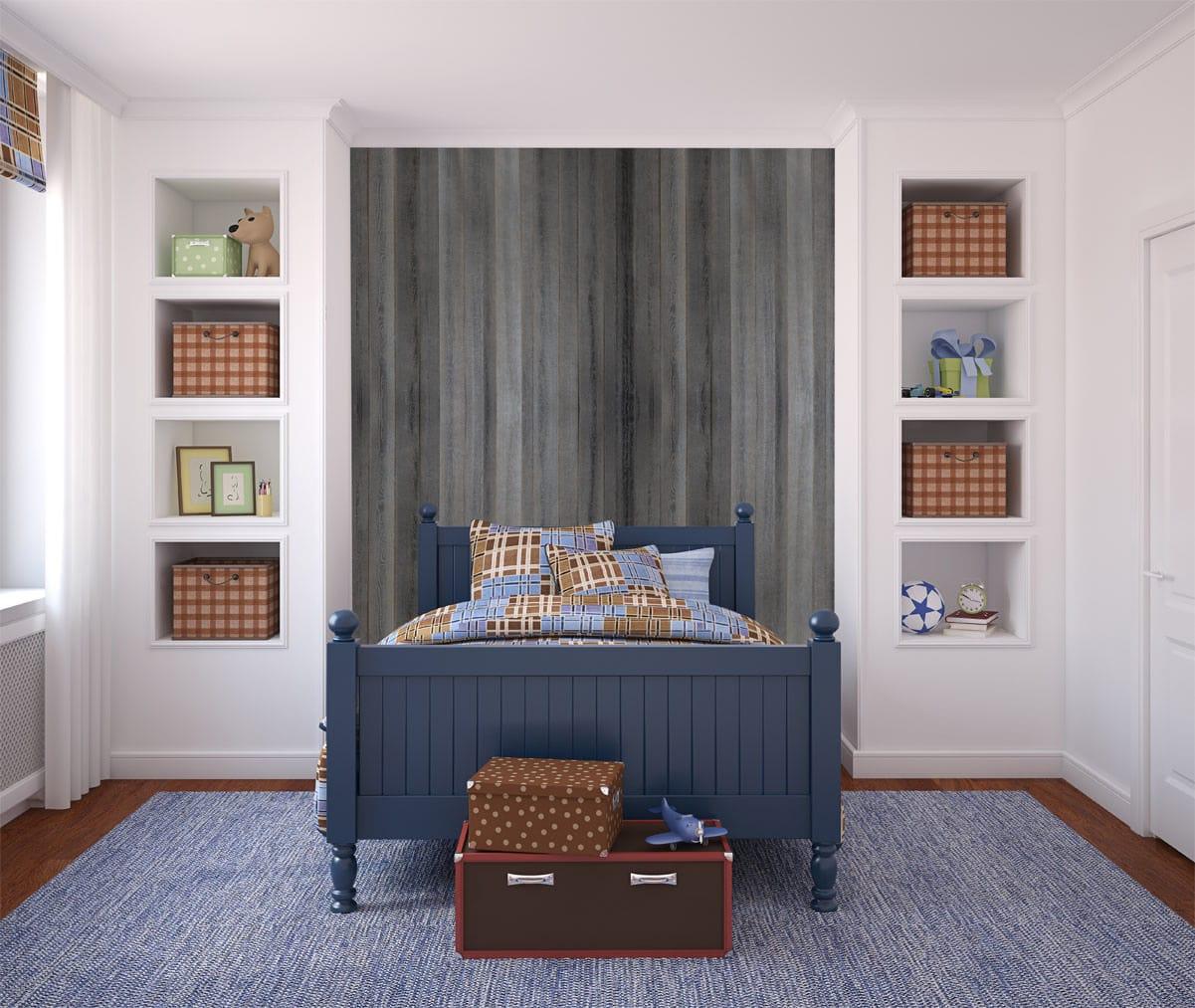panneau dcoratif en bois pour agencement intrieur en matires recycles rustique panh468 - Bois Decoratif Pour Mur