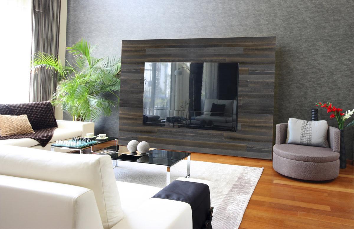 panneau dcoratif en bois pour agencement intrieur en matires recycles rustique panh468 mur - Bois Decoratif Pour Mur