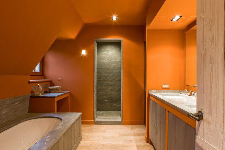 Awesome Salle De Bain Orange Et Marron Gallery - ansomone.us ...