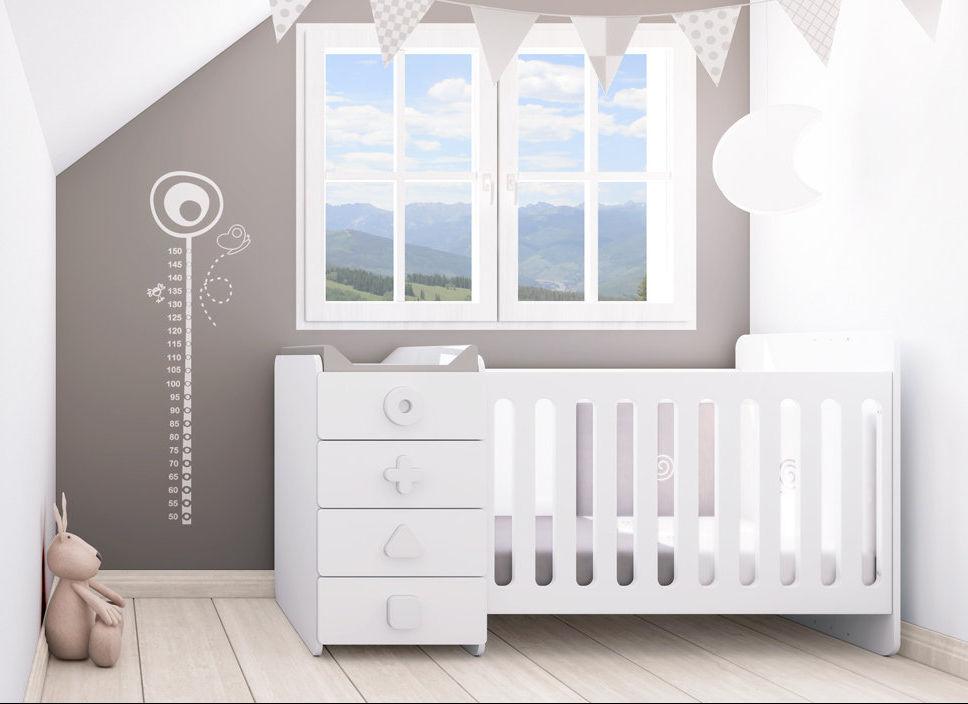 Lit bébé avec rangement et table a langer - Modèle de tricot gratuit