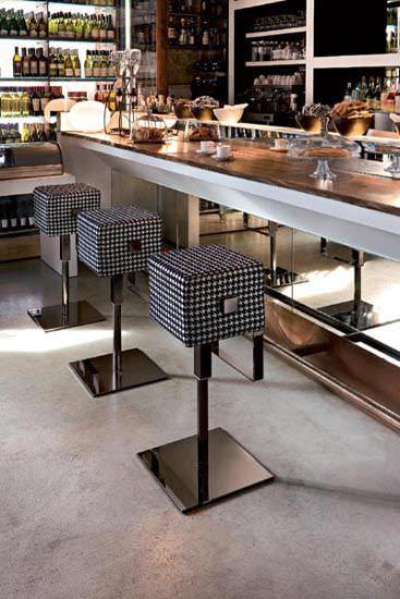 Tabouret de bar contemporain / pivotant - CUBE by Nicola Cacco ...