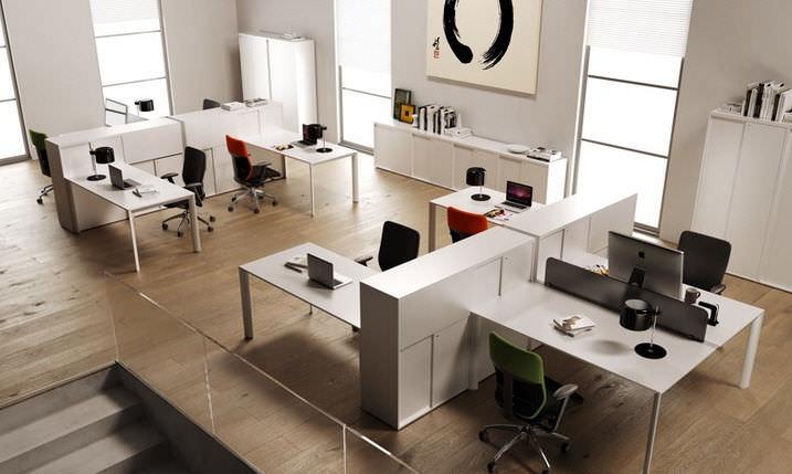 Bureau Pour Open Space En Aluminium Contemporain Professionnel