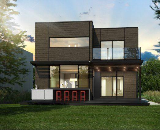 Maison préfabriquée / contemporaine / à 2 étages - MAISON ...