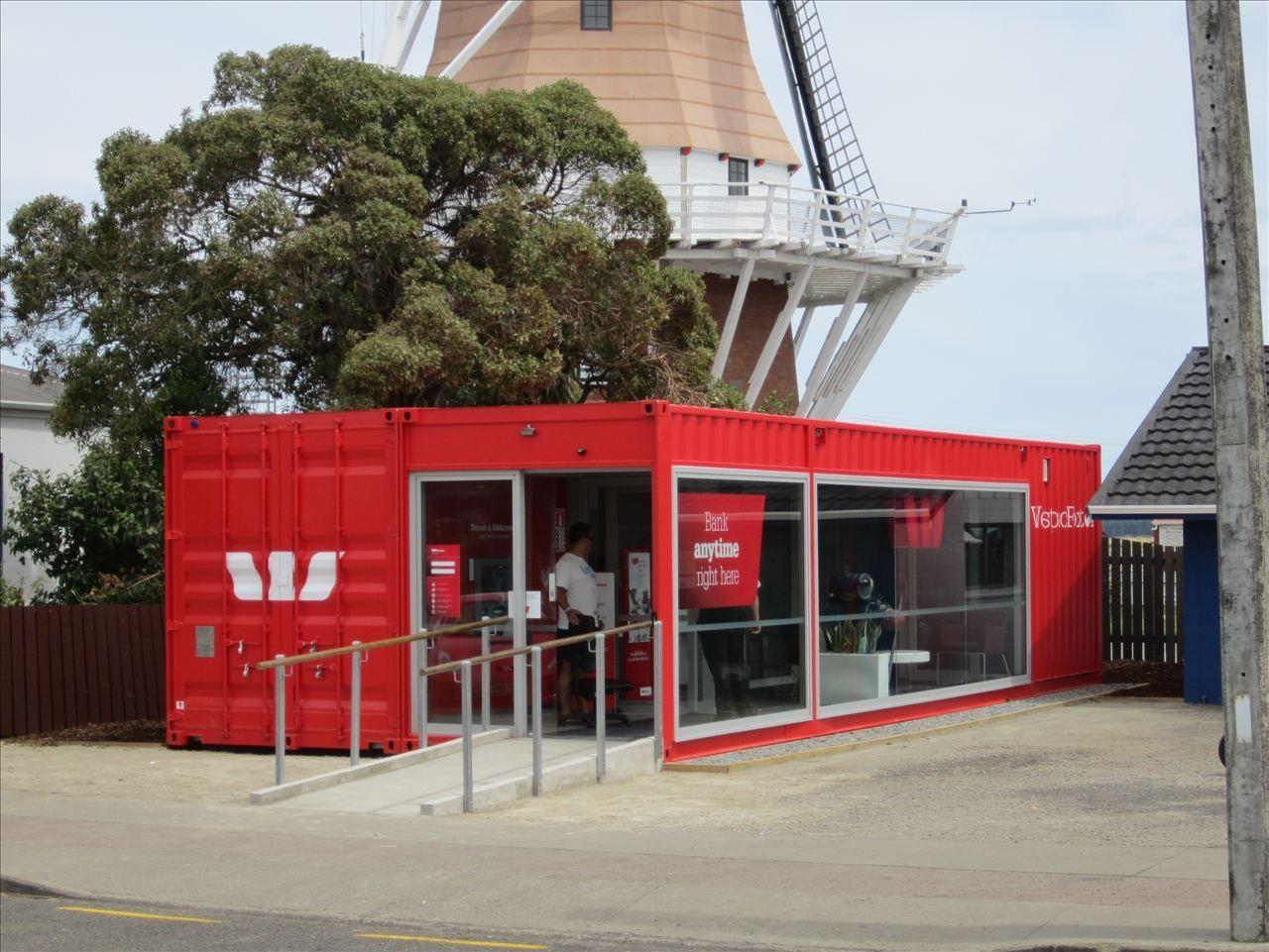 Conteneur commercial pour bureau westpac mobile bank branch