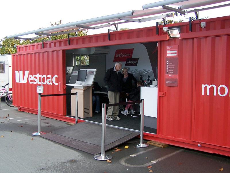 Bureau En Container : Conteneur commercial pour bureau bank for christchurch