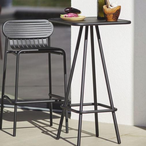 Chaise De Bar Contemporaine Avec Repose Pieds Empilable En Aluminium