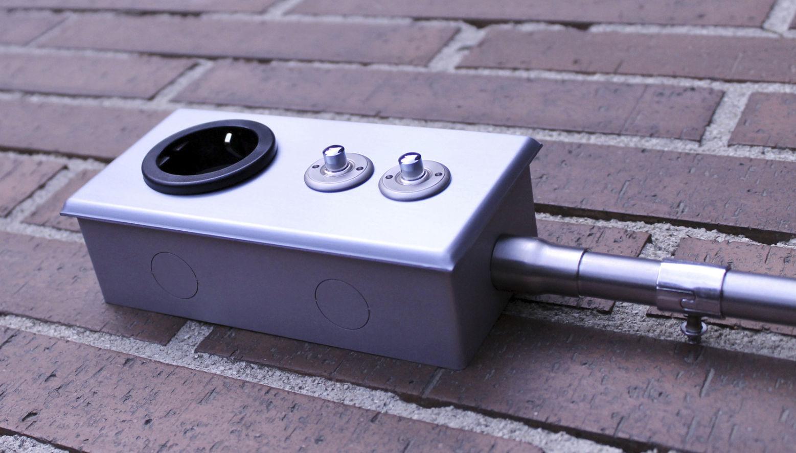 interrupteur bouton poussoir levier double en mtal - Interrupteur Style Industriel