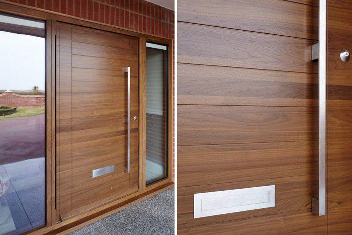 Célèbre Porte d'entrée / à pivot / en bois massif / de sécurité - OSLO E80  ZN83