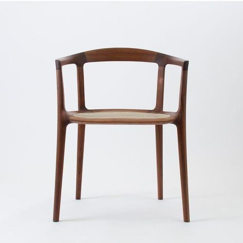 Chaise Design Scandinave Avec Accoudoirs En Resille Bois