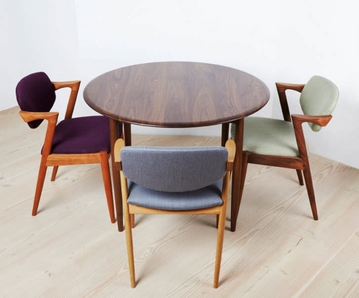 Table à manger GM Longueur 160/310 x Largeur 90cm + Allonges UNIVERSE Noyer